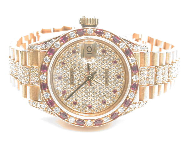 Comment: ROLEX OYSTER PERPETUAL DIAMOND 'DATEJUST' WRISTWATCH IN 18KT...